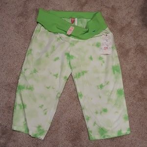 Victoria's Secret Pink Green Tye Dye Crop L